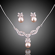 cheap Jewelry-Women's Jewelry Set - Imitation Pearl Elegant, Bridal Include Drop Earrings / Pendant Necklace For Wedding / Party / Special Occasion / Anniversary / Birthday / Engagement / Gift / Daily
