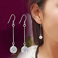 Homens Feminino Brincos Compridos Cristal Imitação de Diamante Moda Clássico Jóias de Luxo Prata de Lei Cristal Imitações de Diamante