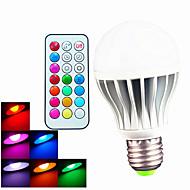 B22 E26/E27 LED-globepærer A60(A19) 3pcs leds Høyeffekts-LED Mulighet for demping Fjernstyrt Dekorativ RGB 6500lm 6500KK AC 100-240V