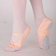 billige Ballettsko-Kan ikke spesialtilpasses - Dame / Barn - Dansesko - Ballett - Lerret - Flat hæl - Svart / Rosa / Rød / Hvitt