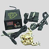 baratos kits profissionais do tatuagem-BaseKey Máquina de tatuagem Kit de tatuagem profissional, 1 pcs máquinas de tatuagem - 1 x máquina de tatuagem liga para revestimento e
