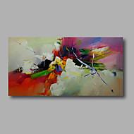 halpa -Maalattu AbstraktiModerni 1 paneeli Kanvas Hang-Painted öljymaalaus For Kodinsisustus