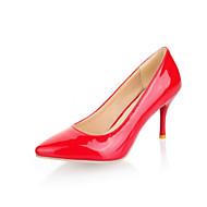 tanie Small Size Shoes-Męskie Damskie Dla dziewczynek Obuwie Derma Wiosna Lato Szpilka Brokat na Ślub Biuro i kariera Formalne spotkania Black Almond
