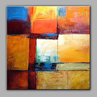 Hand-Painted Abstract Square,Modern One Panel Canvas Oil Painting For Home Decoration