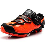 baratos Sapatos Masculinos-Homens Arrastão / Fibra de Carbono Outono / Inverno Conforto Tênis Ciclismo Preto / Laranja