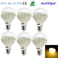 billige Globepærer med LED-YouOKLight 6pcs 700lm E26 / E27 LED-globepærer B 15 LED perler SMD 5630 Dekorativ Varm hvit 220-240V