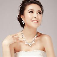 お買い得  ジュエリー-女性用 人造真珠 ラインストーン 人造真珠 合金 、 結婚式 パーティー