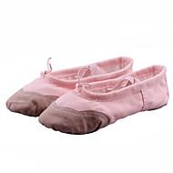 billige Ballettsko-Barne Ballett Lerret Flate Ytelse Nybegynner Trening Flat hæl Svart Hvit Rød Rosa Beige Kan ikke spesialtilpasses