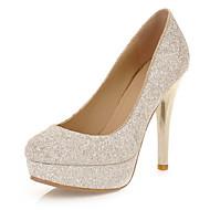 billige -60%-Dame Sko Glitter Kustomiserte materialer Vår Sommer Stiletthæl til Bryllup Formell Hvit Svart Grønn Gylden