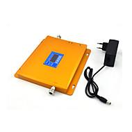 Gsm dcs wzmacniacz telefonów komórkowych 2g 900mhz wzmacniacz wzmacniaczy sygnału 4g 1800mhz z wyświetlaczem lcd zasilania / złoty