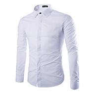 Veći konfekcijski brojevi Majica Muškarci Dnevno Formalan Vikend Rad Pamuk Jednobojni Slim