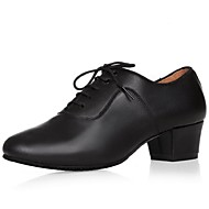 billige Moderne sko-Herre Moderne Lær Høye hæler Nybegynner Opptreden Tykk hæl Svart 4,5 cm Kan ikke spesialtilpasses