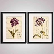 Blomstret/Botanisk Still Life Landskap abstrakt Innrammet Kunstrykk Innrammet Lerret Innrammet Sett Veggkunst,PVC Materiale med ramme For