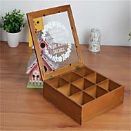 cílios caso cueca cosméticos mesa de madeira caixa de armazenamento multifuncional