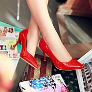 baratos Sapatos Femininos-Mulheres Sapatos Courino Primavera / Verão Salto Agulha Bege / Vermelho / Rosa claro
