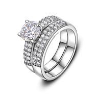Mulheres Cristal / Imitações de Diamante Anel de declaração - Fashion Prata / Dourado Anel Para Casamento / Festa / Diário
