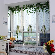 cheap Sheer Curtains-One Panel Curtain European , Embroidery Curve Living Room Polyester Material Sheer Curtains Shades Home Decoration
