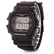 billige Sportsur-Digital Digital Watch Sportsur Alarm Kalender Kronograf LCD Plastik Bånd Vedhæng Mode Sort