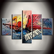 billiga Stilleben-Hang målad oljemålning HANDMÅLAD - Stilleben Europeisk Stil Duk