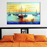 cheap Oil Paintings-Hand-Painted Landscape Horizontal Panoramic, Classic Modern Realism Pastoral European Style Canvas Oil Painting Home Decoration One Panel