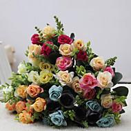 Kunstige blomster 1 Afdeling Europæisk Stil Roser Bordblomst