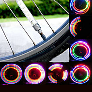 Cap Lights Valve Cap Flashing Lights Safety Lights Wheel Lights LED - Cycling Waterproof LED Light AG10 80 Lumens Battery Cycling/Bike