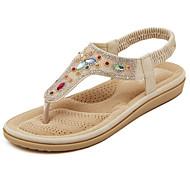 Sandaalit - Tasapohja - Naisten kengät - Tekonahka - Valkoinen / Manteli - Rento - Avokärkiset / Slingback