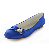 cheap Women's Shoes-Women's Shoes Silk Spring Summer Flat Heel Crystal for Wedding Dress Party & Evening Purple Red Pink Royal Blue Champagne