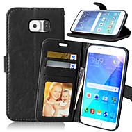 Para Samsung Galaxy S7 Edge Carteira / Porta-Cartão / Com Suporte / Flip Capinha Corpo Inteiro Capinha Cor Única Couro PU SamsungS7 edge