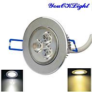 billige Innfelte LED-lys-YouOKLight 300 lm Taklys 3 leds Høyeffekts-LED Mulighet for demping Dekorativ Varm hvit Kjølig hvit AC 110-130V AC 220-240V