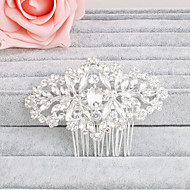 rhinestone hår kamme hovedstykke bryllup part elegante feminine stil