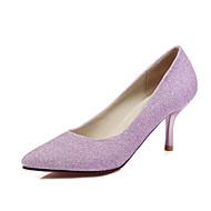 Homme-Mariage Bureau & Travail Habillé-Bleu Violet Argent-Talon Aiguille-club de Chaussures-Chaussures à Talons-Polyuréthane