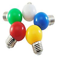 billige Globepærer med LED-1pc 1 W 80 lm E26 / E27 LED-globepærer G45 8 LED perler SMD 2835 Dekorativ / Bedårende Hvit / Rød / Blå 220-240 V / 1 stk. / RoHs