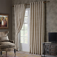 cheap Curtains Drapes-Rod Pocket Grommet Top Tab Top Double Pleat Two Panels Curtain Modern European Mediterranean Neoclassical Country, Jacquard Solid Polka