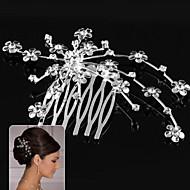 Χαμηλού Κόστους Γλυκύτατα-Κράμα Κομμάτια μαλλιών / Καλύμματα Κεφαλής με Φλοράλ 1pc Γάμου / Ειδική Περίσταση Headpiece