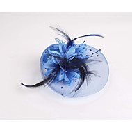 cheap Flower Girls' Accessories-Feather Fabric Net Fascinators 1 Wedding Special Occasion Casual Headpiece