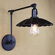 Bedroom Bedside Lamp Hotel Engineering Restaurant Retro Matte Black Belt Long Arm Double Switch Wall