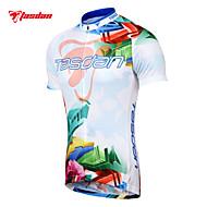 TASDAN Homens Manga Curta Camisa para Ciclismo Moto Camisa / Roupas Para Esporte / Conjuntos de Roupas, Secagem Rápida, Respirável,