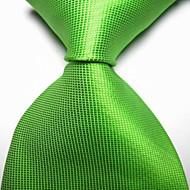 halpa -miesten muoti keväällä vihreä tarkastettu jacquard kudottu solmio solmio