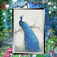 DIYのダイヤモンドの刺繍モザイク孔雀魂ラウンドダイヤモンドの絵画クロスステッチキット豊かな花の家の装飾