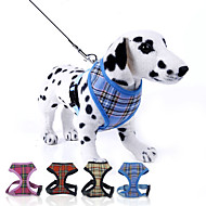cheap Dog Collars, Harnesses & Leashes-Dog Harness / Leash Adjustable/Retractable Plaid/Check Red / Blue / Yellow / Rose Nylon