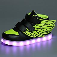 Jongens Sneakers Comfortabel Noviteit Oplichtende schoenen Synthetisch Microvezel PU Herfst Winter Causaal Platte hakWit Zwart Blauw Roze