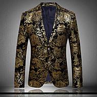 ieftine -Bărbați Zvelt Mărime Plus Size Blazer Club Vintage Exagerat Sofisticat Imprimeu Bumbac