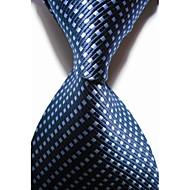 Rácsos-Nyakkendő(Kék,Poliészter)