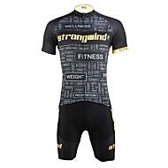 ILPALADINO Homens Manga Curta Camisa com Shorts para Ciclismo - Preto/amarelo Moto Shorts Camisa/Roupas Para Esporte Conjuntos de Roupas,
