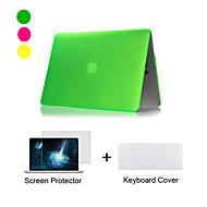 tanie Akcesoria do MacBooka-MacBook Futerał na Jendolity kolor Plastikowy MacBook Air 11 cali