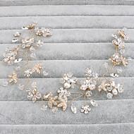 ieftine Șic Floral-Cristal Banderolele Veșminte de cap with Floral 1 buc Nuntă Ocazie specială Casual Birou și carieră În aer liber Diadema