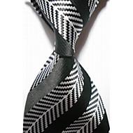 Pruhy-Kravata(Černá / Bílá,Polyester)