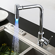 cheap Kitchen Faucets-Kitchen faucet - Contemporary Chrome Bar / ­Prep Centerset