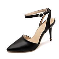 tanie Small Size Shoes-Damskie / Dla dziewczynek Derma Wiosna / Lato Szpilka Klamra / Z dziurką Czarny / Niebieski / Różowy / Impreza / bankiet / Formalne spotkania / Impreza / bankiet